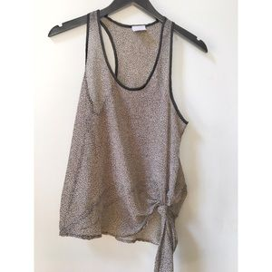 Leopard Print Knotted Tank Top